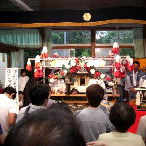 ▲稗田野神社 佐伯燈籠祭-人形浄瑠璃-(1)