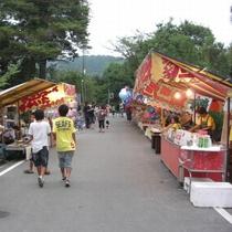 ▲稗田野神社 燈籠祭の出店