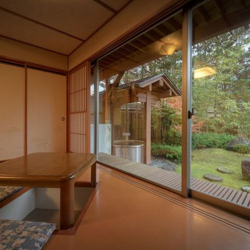 桜館1階【山法師】 露天風呂・掘りこたつ付き客室