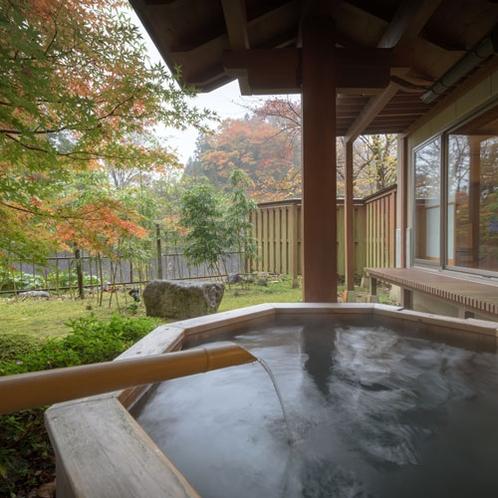 桜館1階【山法師】 客室露天風呂