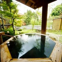 桜館 1階 客室露天風呂
