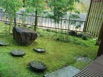 桜館1階 客室名「山法師」 庭園と露天風呂付客室より