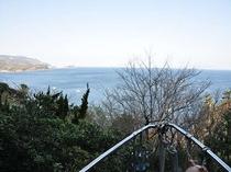 舟形貸切露天風呂からの風景