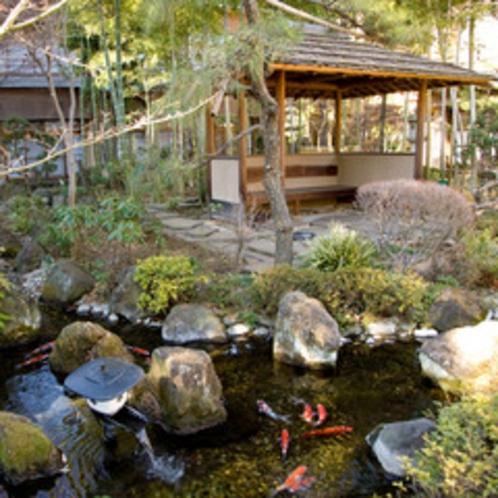 鯉の泳ぐ小川もある庭園