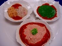 「紅鱒のグリエ」のミキサー食です。