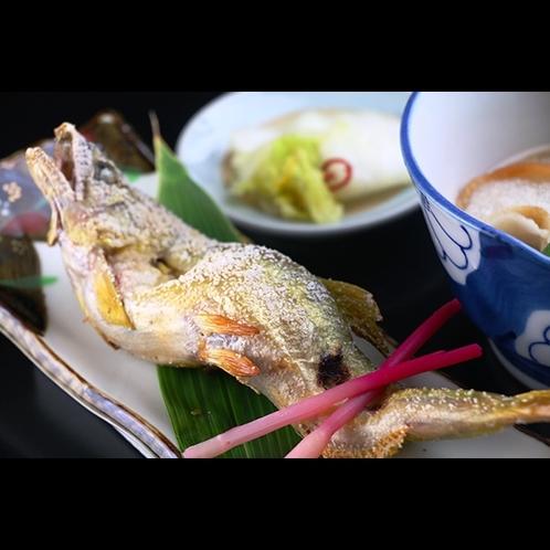【夕食】鮎の塩焼き