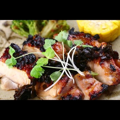 【夕食】鶏ももソテー