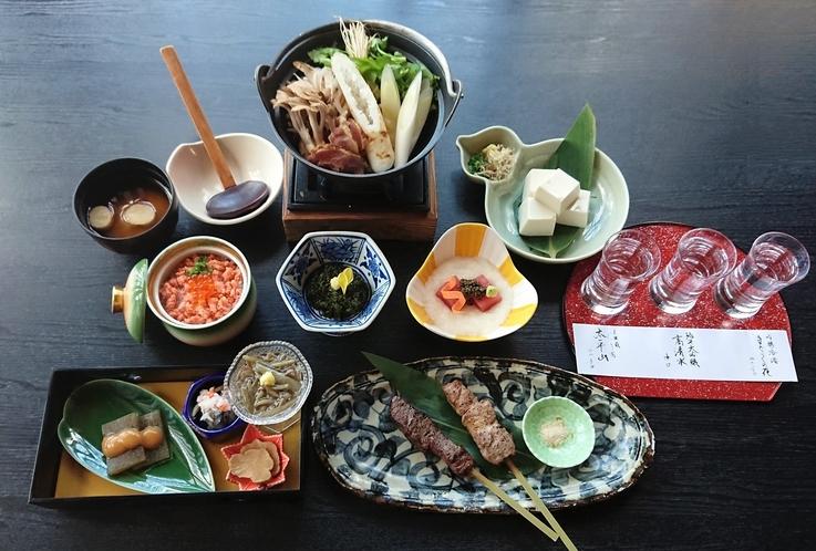 きりたんぽ鍋+秋田の地酒飲み比べセット