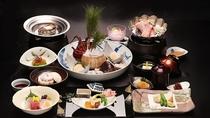 夕食(伊勢海老&あわび付きコース)