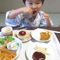 幼児のお子様の夕食一例