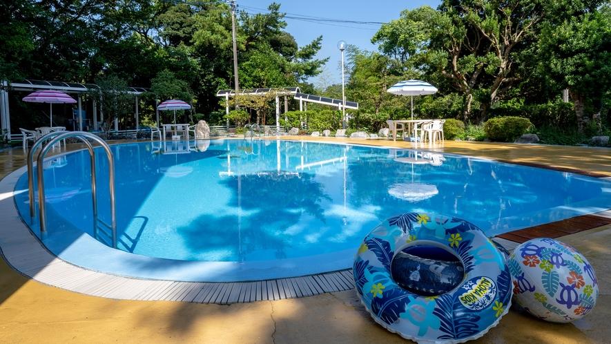 ガーデンプール/夏季のみオープンします。ご宿泊のお客様は無料。