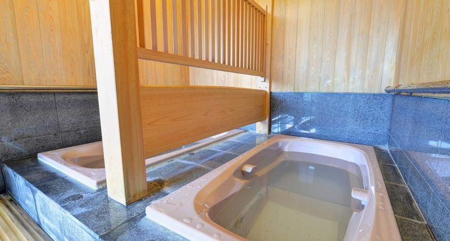 *重炭酸水素風呂/重炭酸イオンと水素の入浴剤を加えたお風呂。7分くらい入りますと体の芯から温まります