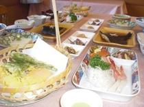 十勝の味覚 旬の味を楽しむ~ 御宿泊夕食膳 例 その日の仕入れ状況により変更有