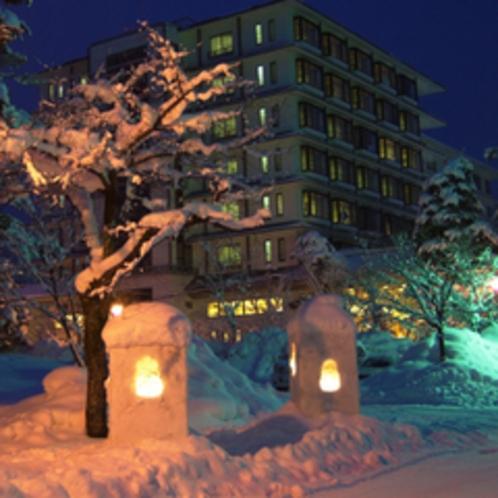 夜の立山プリンスホテル