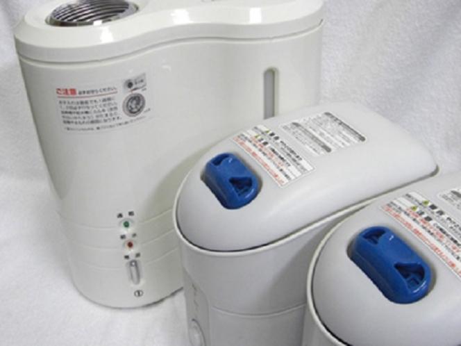 【無料貸し出しサービス】乾燥が気になる方に加湿器の貸し出しがございます。