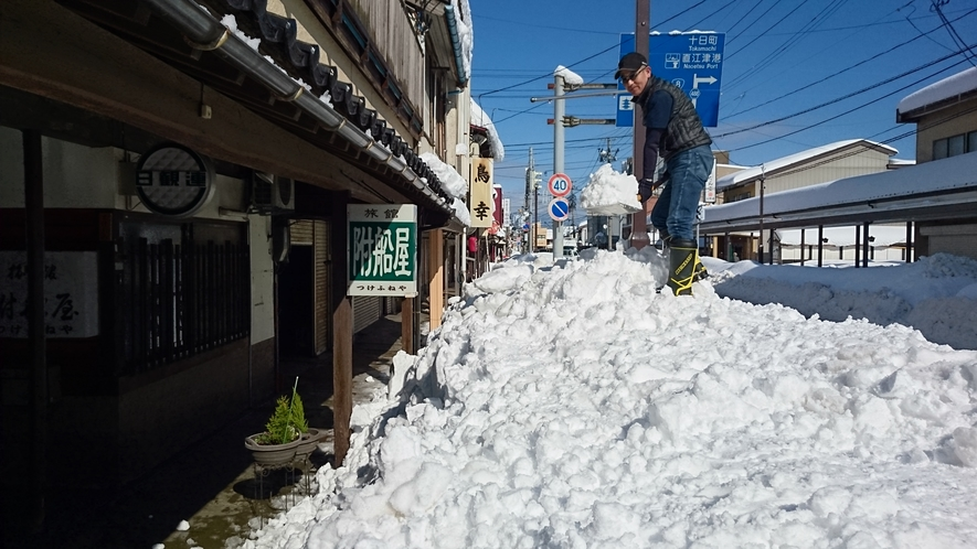 2018年2月14日 直江津は雪のバレンタインデー!