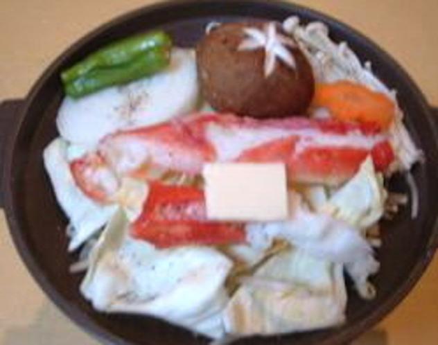 タラバ蟹の陶板焼き