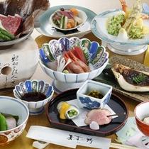 *和食/日本海の新鮮な魚介類と旬の山菜を贅沢に使う、この土地ならではの味覚。