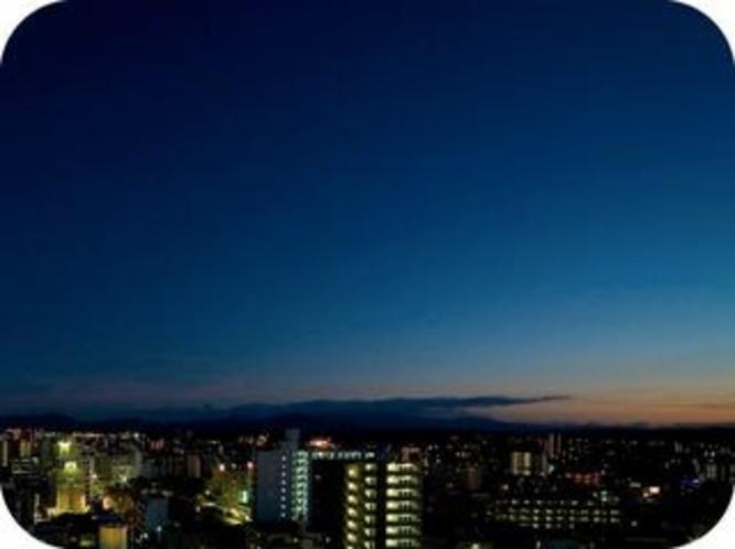 ホテルからの夜景 南向き