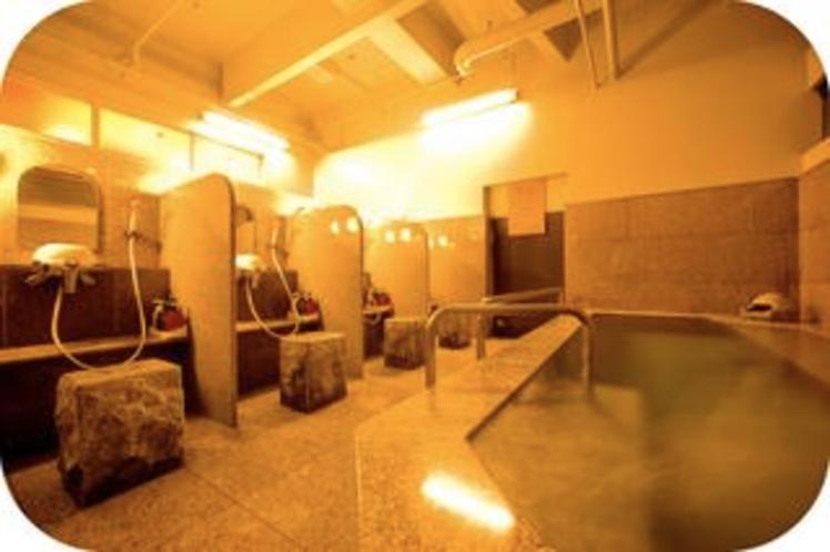 〜人工温泉光明の湯〜男性専用大浴場 洗い場
