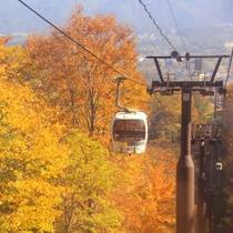 秋の妙高高原スカイケーブル