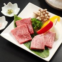 【和牛食べ比べ付会席】和牛「肩ロース」・「内もも」食べ比べ♪