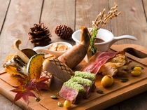 「アンソレイユ」秋の料理イメージ