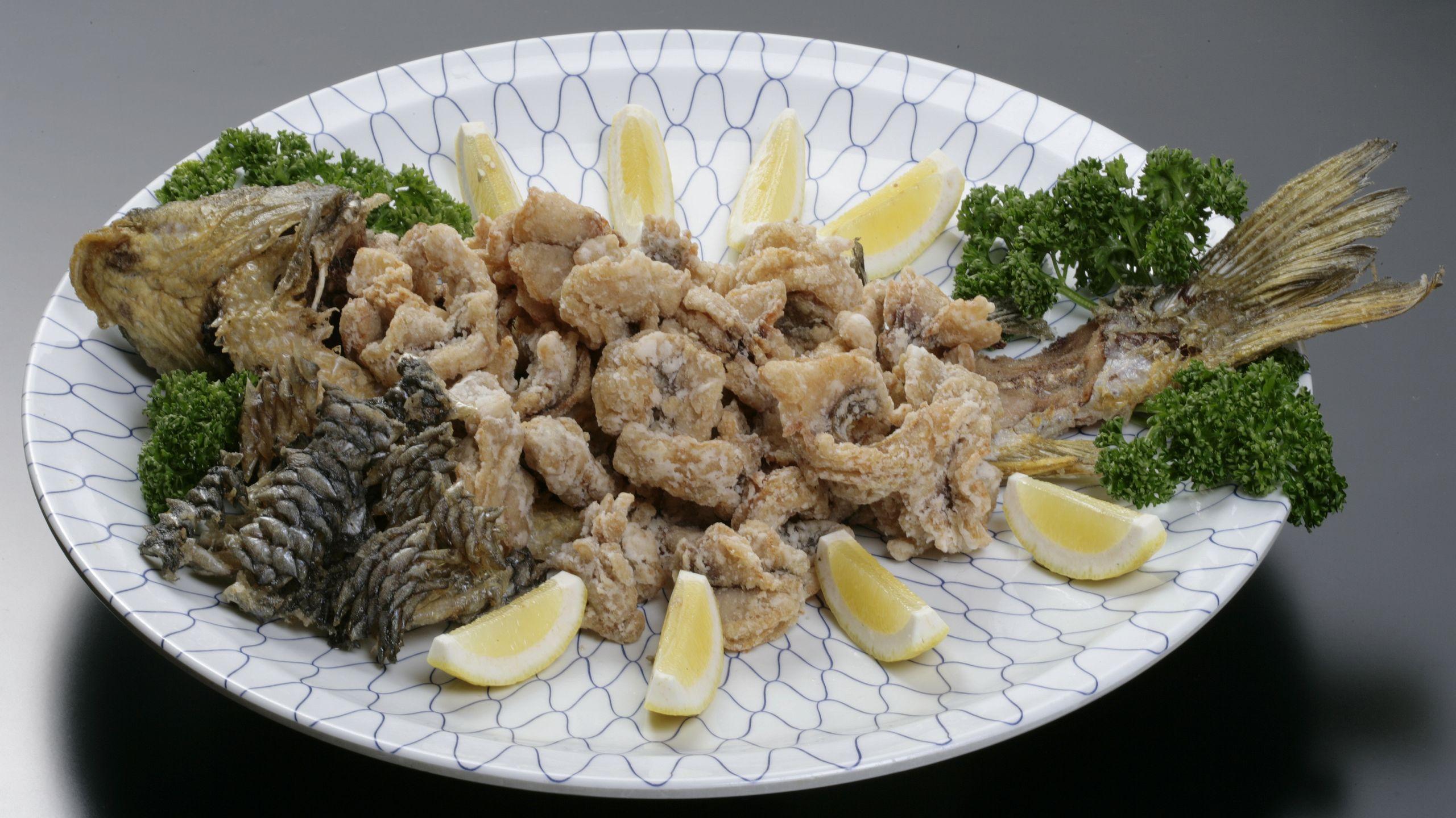 【食事】鯉の唐揚げ