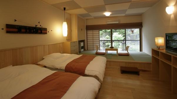 ◇本館4階◇【和洋室タイプ客室】(ツインベッド+3畳) 禁煙