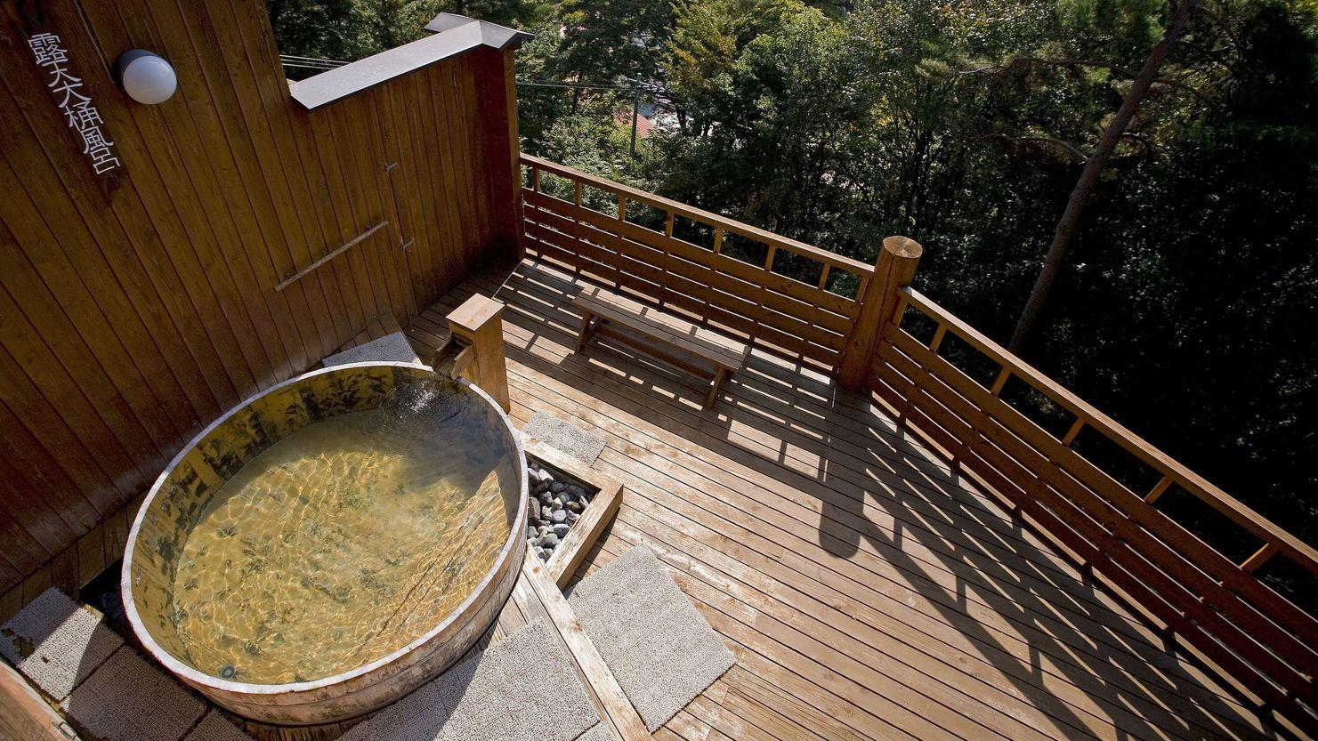 【温泉】展望露天風呂「雲の助」 露天大桶風呂(上からの様子)