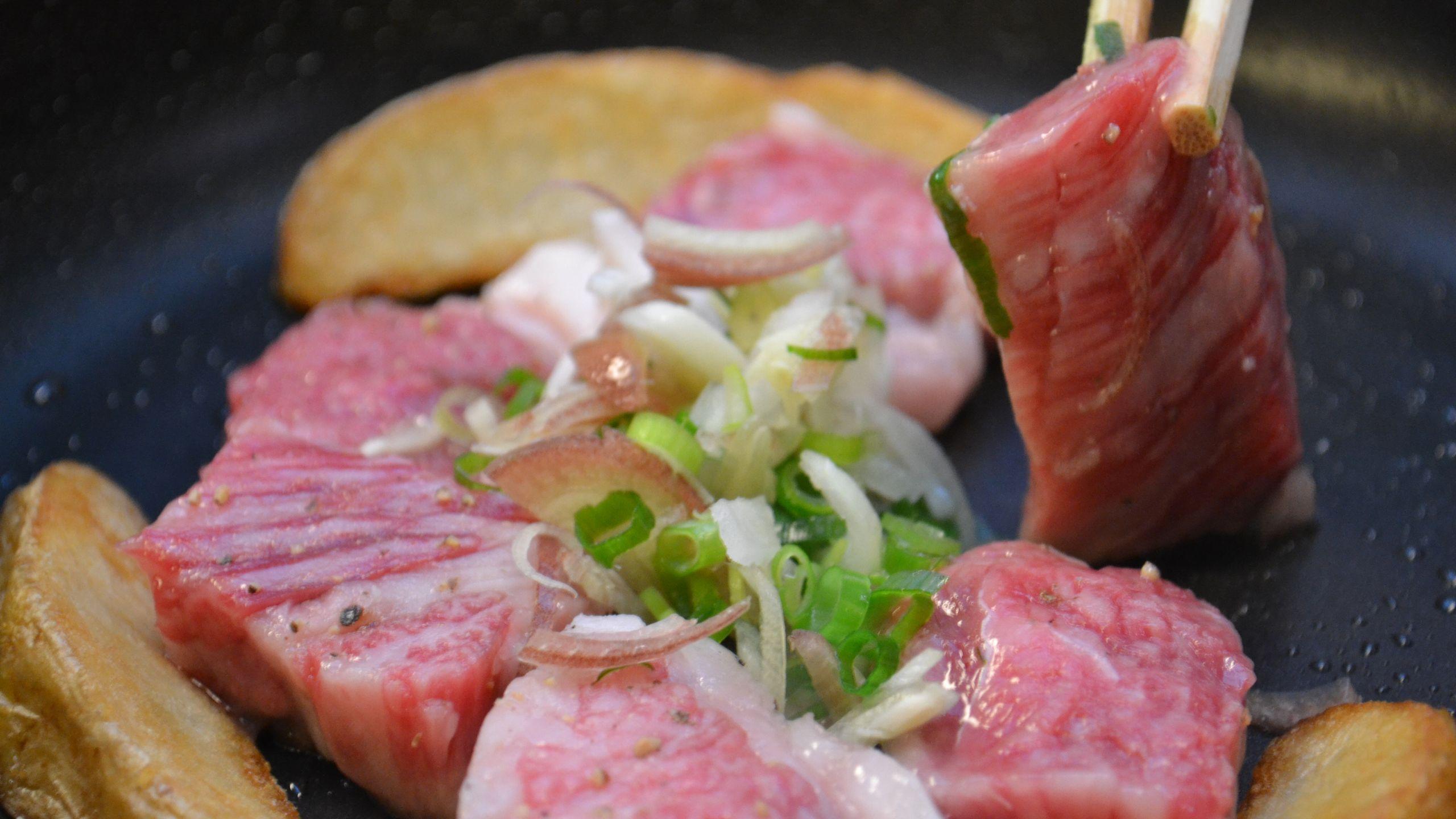 【食事】信州牛ステーキ