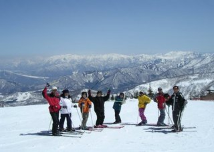 皆でスキー