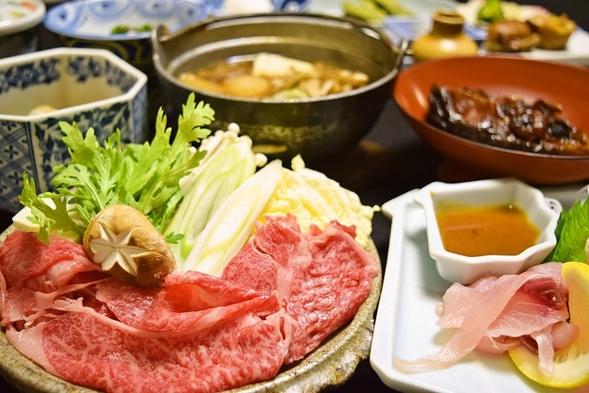 【安心の個室会食】A5ランク米沢牛すき焼き★朝夕2食付プラン