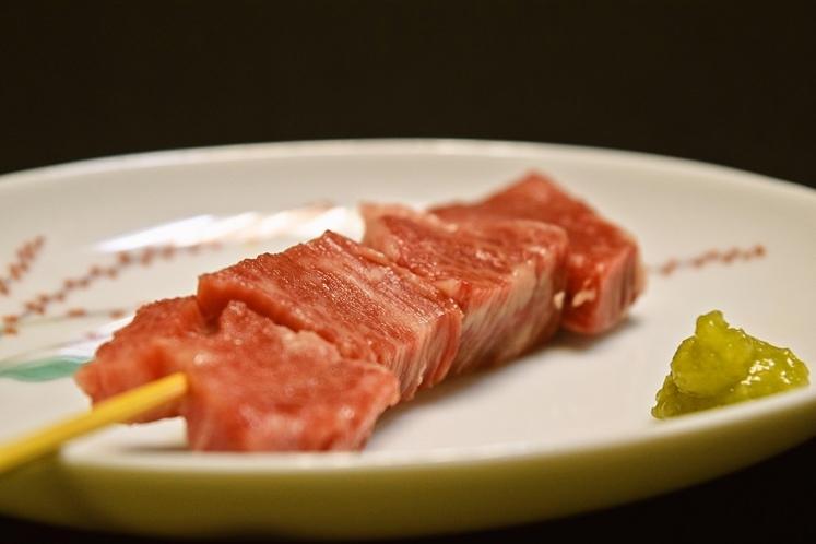 米沢牛の串です
