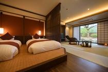 ◆リニューアル【離 れ】露天付客室45㎡/ 和室8畳+ツイン