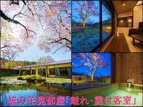 ●桜の花見部屋!【離れ】露天付客室