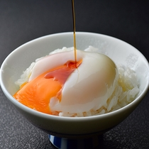 「朝食」源泉で作る温泉卵♪あったかいうちにどうぞ。