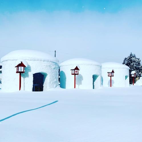 【冬季限定】巨大かまくら村♪米沢ラーメンの出前も出来ます^^