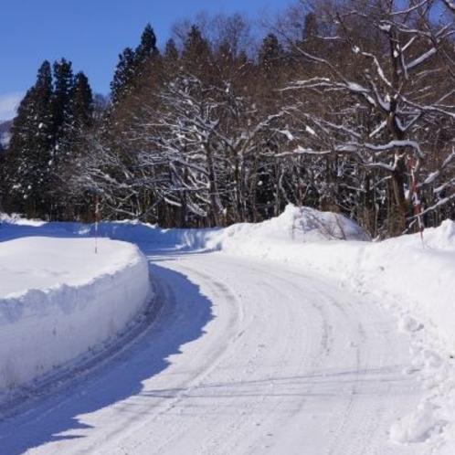 雪道でも安心!冬季限定タクシー送迎付きプラン♪