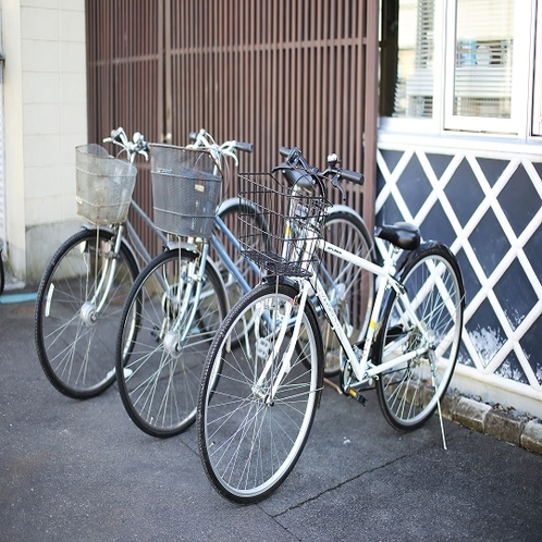 ◇無料レンタサイクル フロントまでお気軽にお申し付けください(先着順のため予約不可)