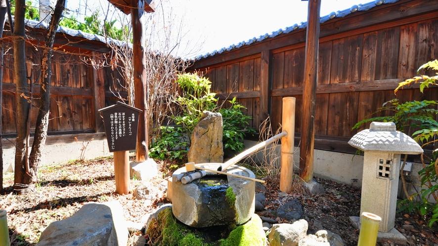【外観】お庭の水琴窟