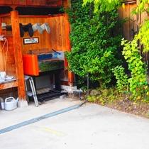 【サービス】お客様にご満足いただこうと宿主が作った洗車場。ご自由にご利用ください。
