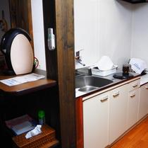 【別邸つま恋】半露天付離れには簡易キッチンあり