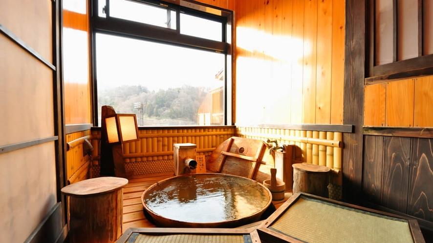 【はなみずき・禁煙】半露天風呂付客室には「足湯」も別にあります!