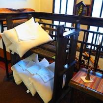 【サービス】2階に枕があります。あわなかったらご検討ください。