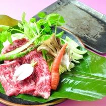 【ご夕食】くわで焼く!上州牛ステーキ懐石プラン♪通常メニューからボリュームアップ!