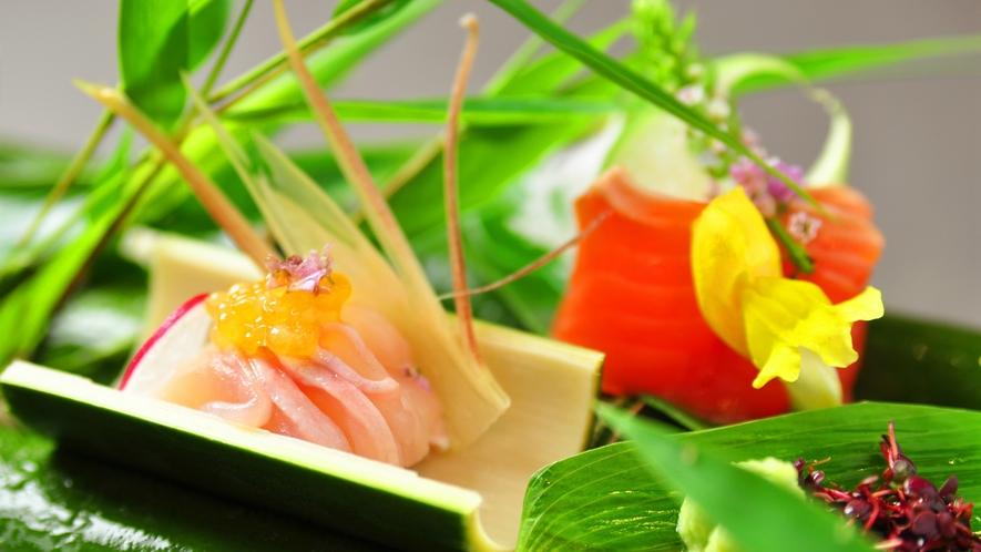 【ご夕食】里山の懐石の一品一例
