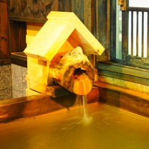 【別邸つま恋】半露天付離れのお風呂はもちろん源泉かけ流しのにごり湯です!
