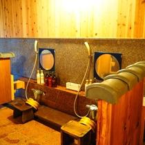 【女性大浴場】お風呂の洗い場
