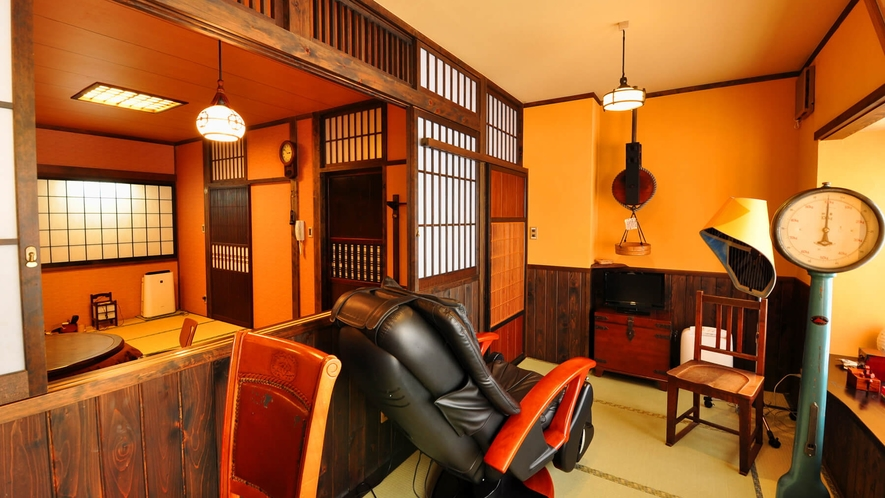 【ななかまど】半露天風呂付客室の湯上り処とお部屋の様子